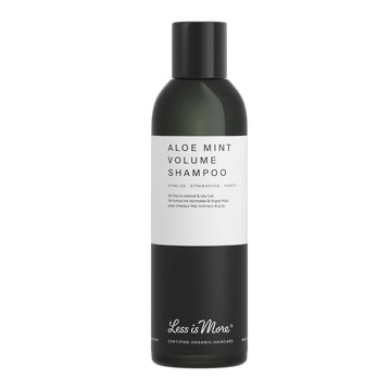 Less is More Aloe Mint Volume, shampoo - hennoille tai rasvoittuville hiuksille, 200 ml